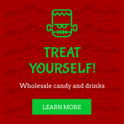 Ad Banner Maker for a Halloween Candy Sale 16614m