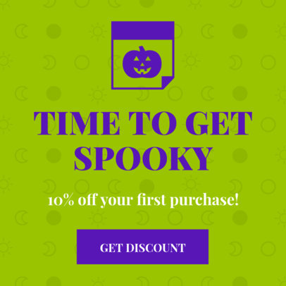 Halloween Ad Banner Creator for Spooky Discounts 16614n
