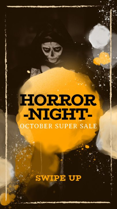 Horror-Themed Instagram Story Design Template 582f