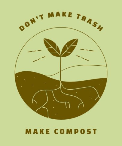 T-Shirt Design Generator with an Ecology Quote 1562g