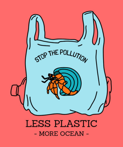 T-Shirt Design Generator for a Less-Plastic Movement 1559g