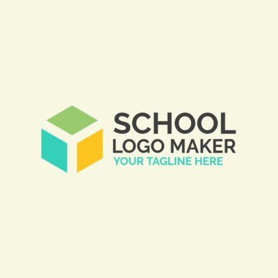 School Logo Maker with an Abstract Geometric Icon 1087a