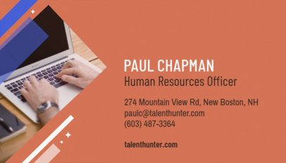 Human Resources Officer Business Card Maker 642a