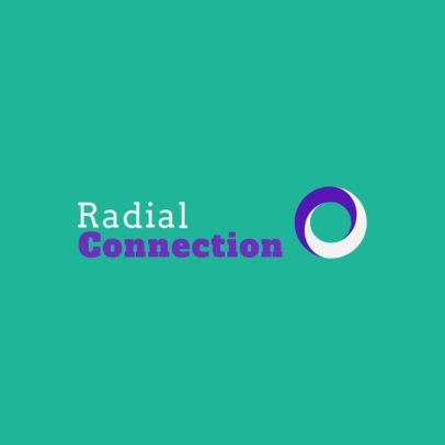 Logo Maker for a Digital Marketing Company with a Radiating Circle Graphic 2232f