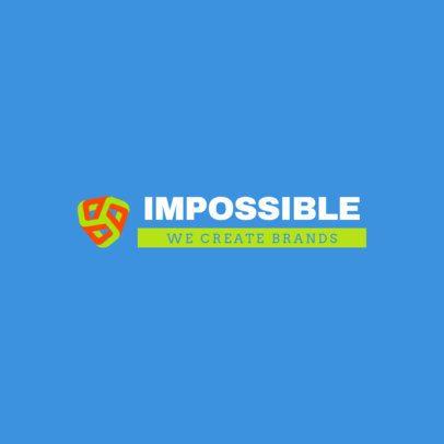 Logo Maker for a Digital Marketing Company with a Geometric Illustration 2229g