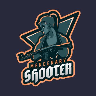 Logo Maker with a Female Mercenary Graphic 1743j-2286