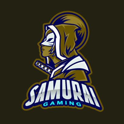 Gaming Logo Maker Featuring a Female Samurai 383t-2319