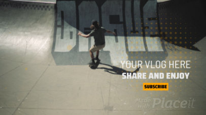 Youtube End Screen Video Maker Featuring a Skater Boy