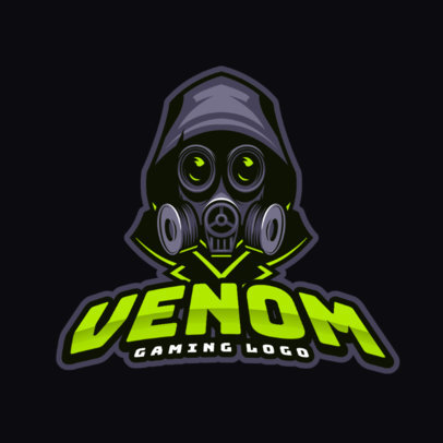 Gaming Logo Maker Featuring a Mystery Masked Character 383g 2287