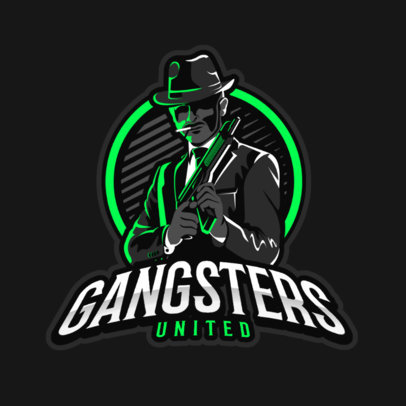 Gaming Logo Maker Featuring a Suited Mafia Gangster Clipart 383o 2290