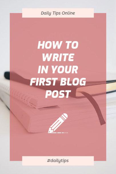 Blogpost Writing Pinterest Post Template 659b