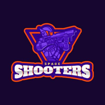 Gaming Logo Maker Featuring a Space Shooter Character 172g