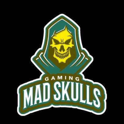 Sports Team Logo Creator with a Skull Illustration 21i