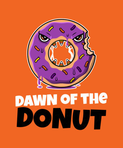 T-Shirt Design Generator with a Kawaii Monster Donut 1563d