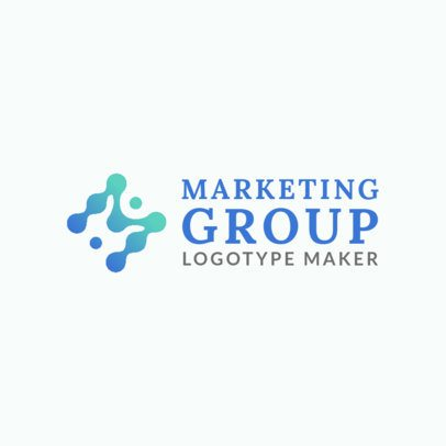 Logo Generator for a Marketing Agency with an Abstract-Style Alphabet Graphic 2227f