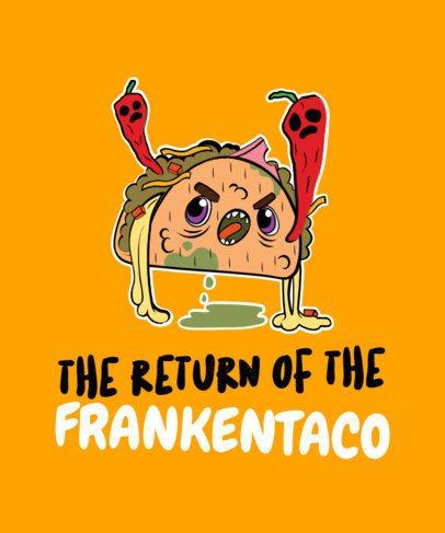 T-Shirt Design Creator with a Kawaii Monster Taco Character 1563f