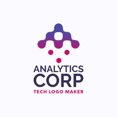 Logo Template for an Analytics Corp with a Futuristic-Alphabet Letter Design 1140f