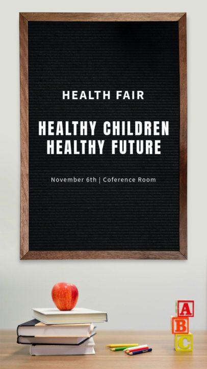 Instagram Story Template for a Health Fair 1054f