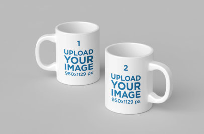 Mockup Featuring Two 11 Oz Coffee Mugs 200-el