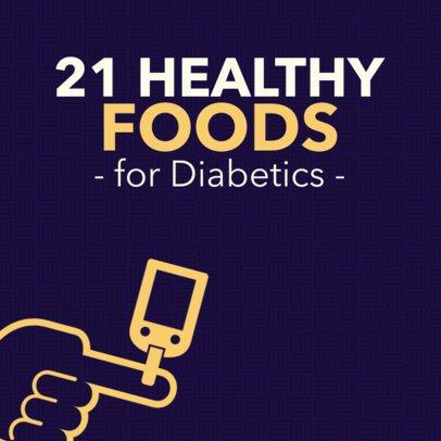 Health-Themed Instagram Post Maker for Diabetics 563k