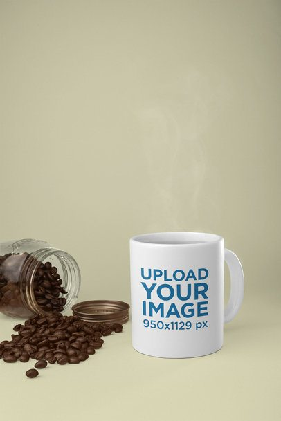 Mockup of an 11 oz Mug by Some Coffee Beans 28181