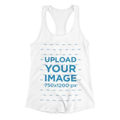 Racerback Tank Top Mockup With a Plain Background 115-el