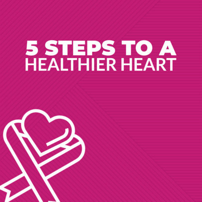 Instagram Post Maker for Heart Health Tips 563l