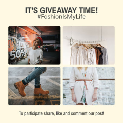 Fashion Giveaway Instagram Post Creator 1588d