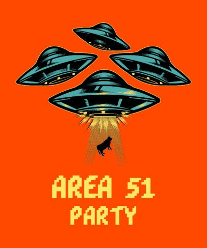 Area 51 T-Shirt Design Template 1567i