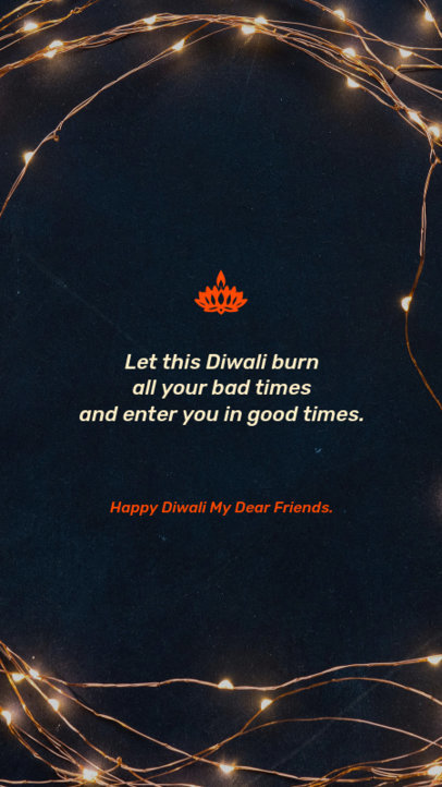 Instagram Story Generator for a Diwali Holiday 1606e 1609