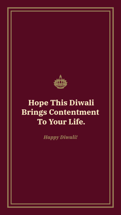 Quote Instagram Story Template for a Diwali Lights Festivity 1606f 1609