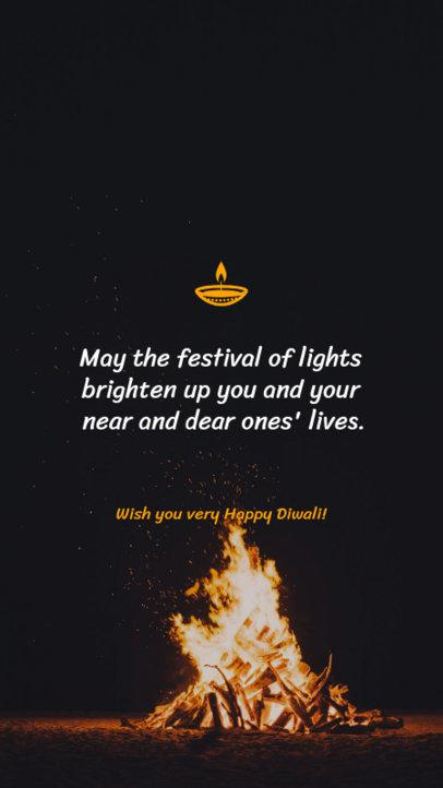 Instagram Story Maker for the Diwali Festival of Lights 1606g 1609