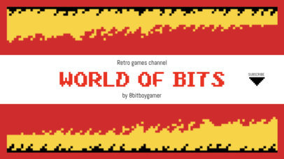 Gaming YouTube Banner Maker Featuring an 8-Bit Pixel Fire 1615