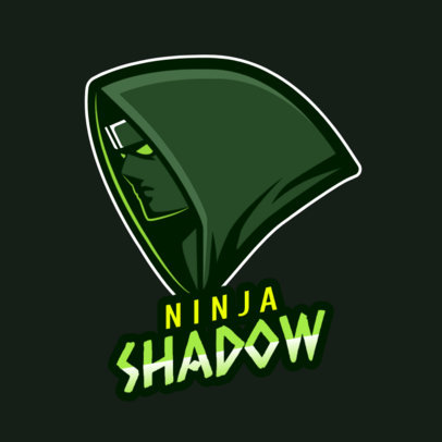 Gaming Logo Template Featuring a Hooded Ninja Clipart 1747h 2315