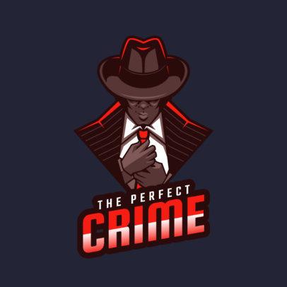 Logo Template of a Mafia Member Illustration 1747o-2286