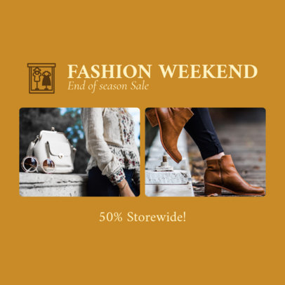 Fashion-Themed Instagram Post Template 1588g