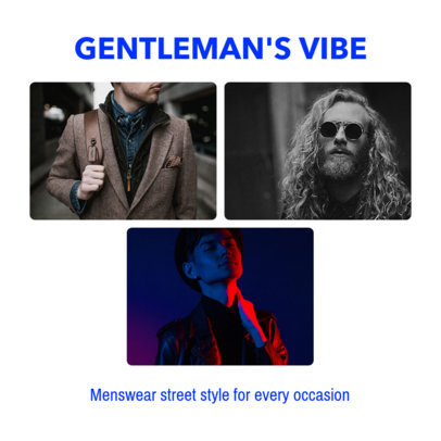 Men's Fashion-Themed Instagram Post Template 1588j