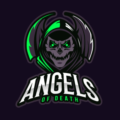 Gaming Logo Template Featuring a Creepy Skull Graphic 383s 2290