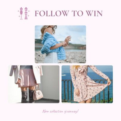 Girly Instagram Post Maker for a Clothing Brand 1588l