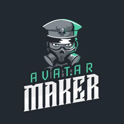 Avatar Logo Maker Featuring a Masked Soldier Character 2340