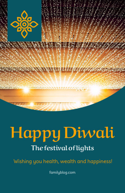 Flyer Maker for a Happy Diwali Greeting 1610d