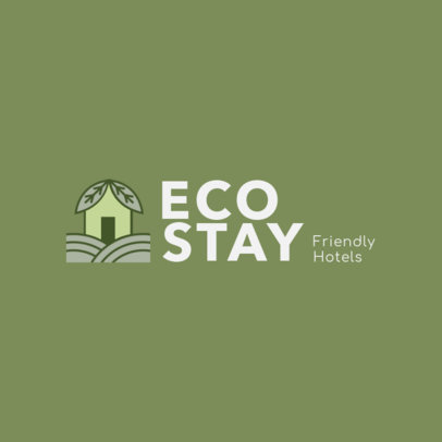 Logo Template for an Eco-Friendly Hotel 2329g