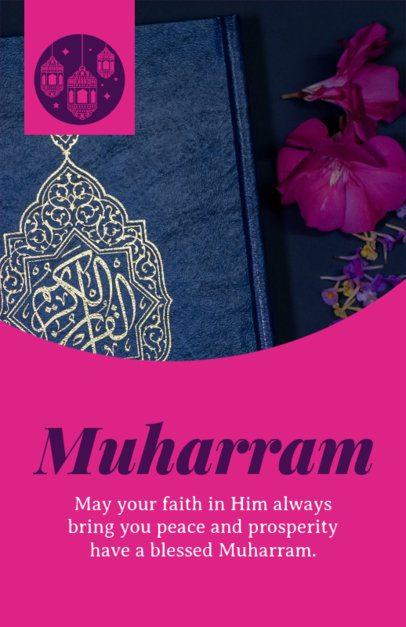 Flyer Template with a Faithful Muharram Message 1610h