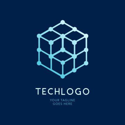 Logo Maker Featuring a Hexagonal Cube 2176g-2334