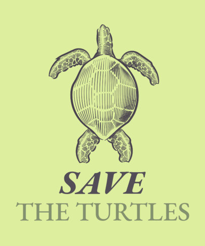 Save The Turtles T-Shirt Design Generator 1598b