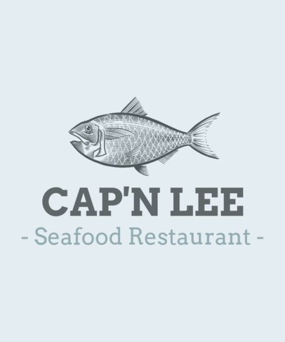 T-Shirt Design Maker for a Seafood Restaurant with a Fish Graphic 1598d