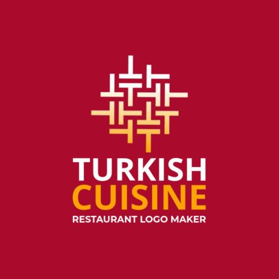 Turkish Restaurant Logo Maker with a Patterned Letter Graphic 1224f 2309