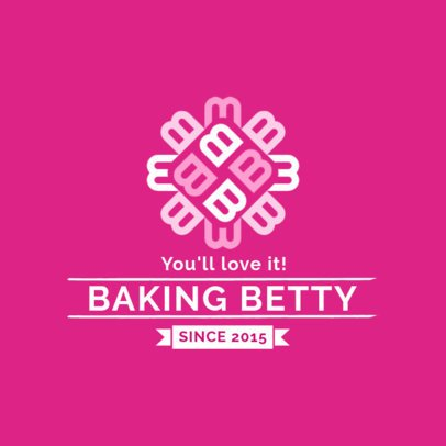 Traditional Bakery Logo Template Featuring a Patterned Letter Clipart 1113g 2309