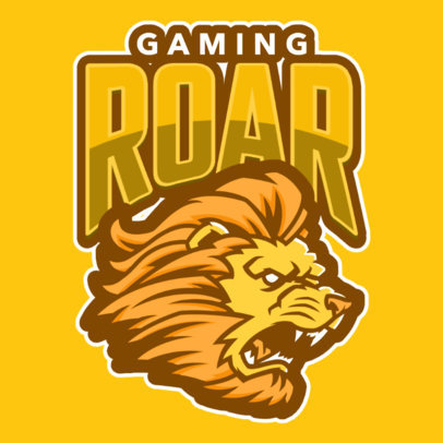 Gaming Logo Generator Featuring a Roaring Lion Graphic 484g-2333