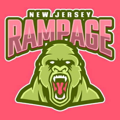 Logo Maker Featuring an Angry Gorilla Cartoon 484j-2333